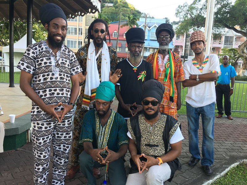 The delegation representing the elders and now-generation Rastafari bretheren from ICAR expressed support for the Declaration of Castries for Reparatory Justice.